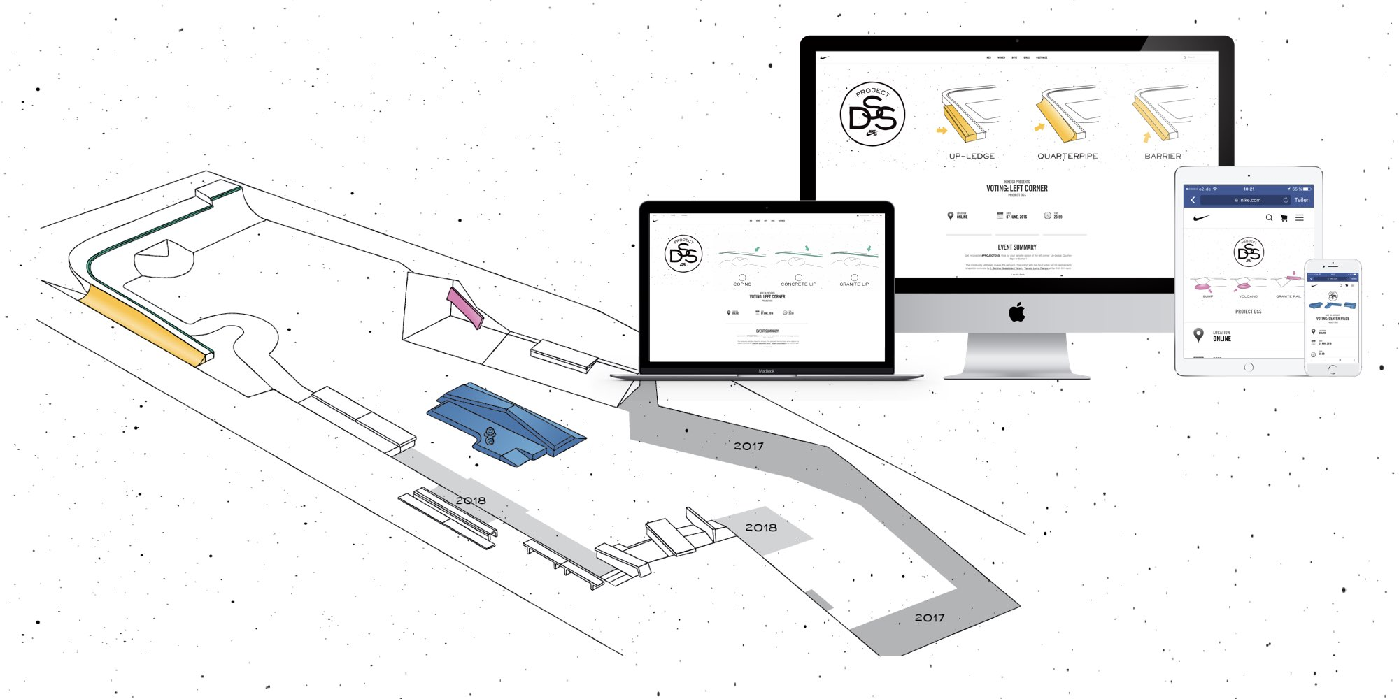 Project DSS, Skatepark Mockup | fine lines Marketing GmbH